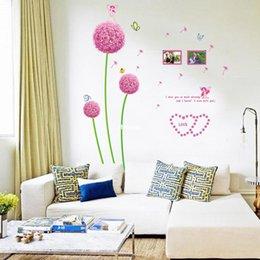 Wholesale Dandelions Sticker - wall stickers home decor Removable wall stickers living room bedroom fluorescent luminous stickers luminous sticker dandelion ABQ6601Y