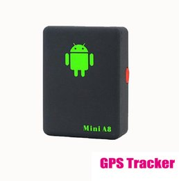Wholesale A8 Global Mini Gps Tracker - Mini A8 Car GPS Tracker Global Real Time 4 Bands GSM GPRS Security Auto Tracking Device Support Android For Children Pet Vehicle A3*