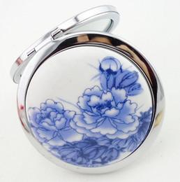 Canada Livraison gratuite art chinois en céramique et en métal compact miroir de maquillage miroir cosmétique portable Offre
