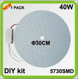 Wholesale Ceiling Plates - 2 year warranty 1PACK DIY kits 40W LED plate ceiling light source disc led techo PCB led circular tube dia30cm = 100w 2D tube