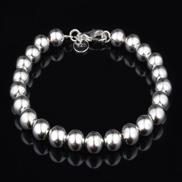 Wholesale Beaded Items - 2015 Fashion Jewelry 925 Silver Charms Bracelets For Women men High Quality Item Beads Bracelets Wholesalers Mix 9 Styles