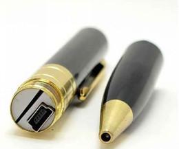 Wholesale Mini Spy Color Camera - mini Spy Camera 720*480 Spy Pen Camera Hidden video recorder Webcam Camera pen with silver and gloden color