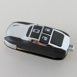 Wholesale Toyota Camry Remote Case - Replacement Remodel Case Flip Folding Remote Chrome Key Shell Fob For Toyota Camry Avalon Corolla 3 Buttons