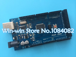 Wholesale Arduino R3 Board - Wholesale-Mega 2560 R3 Mega2560 REV3 (ATmega2560-16AU CH340G) Board ON USB Cable compatible for arduino [No USB line]