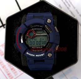Wholesale Diver Men Watches - 2017 New Top Men Watch Waterproof Watch Digital GW1000 Blue army military shocking watches With original Box