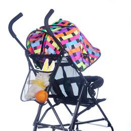 Wholesale Baby Diaper Bottle Organizer - Wholesale- 2017 Hot Sale Fashion Baby Kids Stroller Accessories Hanging Bags Bottle Diaper Net Bag Black Organizer Organizadores Para Casa