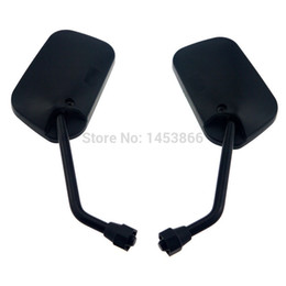 Wholesale Suzuki Motorcycles Mirrors - Universal Left Right Motorcycle Mirrors Rear View For Kawasaki Honda Suzuki 10mm order<$18no track