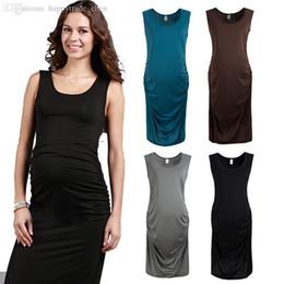 Wholesale Maternity Summer Wear Clothes - Wholesale-2015 maternity dress sleeveless cotton summer bodycon clothes for pregnant women wear Vestidos Plus Size gestantes roupas 175