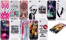 Wholesale Apples New York - For Iphone 6 6S 4.7 6SPlus 6 Plus 5.5 5 5G 5S 5C Owl Bowknot Dot Dreamcatcher Skull Lip Soft TPU Case Silicone New York Believe Love Skin