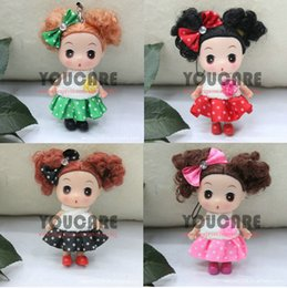 Wholesale Ddung 9cm - Wholesale-9cm 4' inch tall Confused doll, doll for girls, new year gift, mini ddung ddgirl,4 pcs   lot set different dolls, free