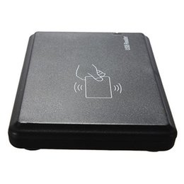 Wholesale 125 Khz Id - Hard Plastic 125 KHz RFID ID Card Reader EM4100 TK4100 USB Contactless Sensor Proximity Sensor Smart Card Reader for Access Control
