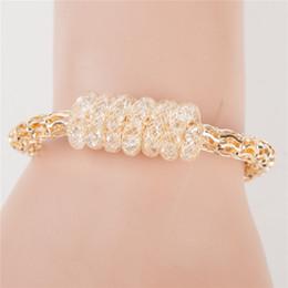 Wholesale European Bead Stardust - Wholesale-2016 European trendy18k women Hollow Twisted Bracelets lady Elegance Stardust bracelets with spiral Snake Pendant OL jewelry