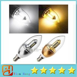 Novo Led E14 6 W lâmpadas de luz da lâmpada de vela de alta potência 32 pcs 3014 SMD levou holofotes 500 lumens morno / branco fresco 110-240 V de