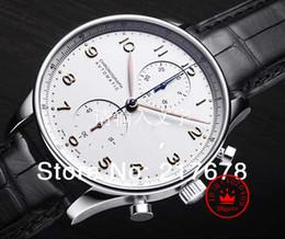 Часы португальские онлайн-Высокое качество роскошный Сапфир португальский IW371445 черный циферблат автоматические мужские мужские мужские часы