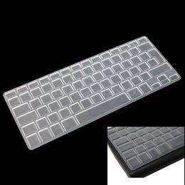 Wholesale Apple Keyboard Uk - Wholesale-Clear Silicone Keyboard Cover Skin for Apple Macbook Mac Pro Air 13 15 17 UK EU