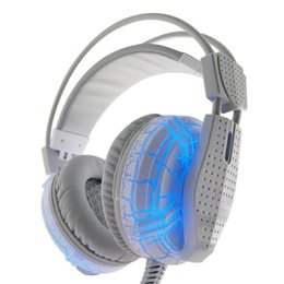 Wholesale Usb Lights For Computers - Gaming Headset with Mic and LED Light for Laptop Computer Cellphone PS4 and so on 3.5mm Wired Noise Isolation Gaming Headphones