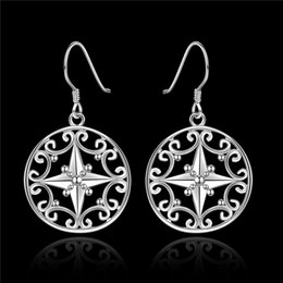 Wholesale Cute Dangle Earrings - High quality 925 sterling silver Dangle Earrings Fashion Jewelry beautiful classic cute gift free shipping