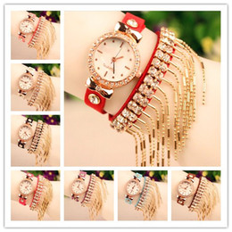 Wholesale quartz watches korea - Hot New Wrap Korea Velvet Women Watch Lady Wrist Watch Diamonds Charming Bracelets Watch Mix Colors Free Shipping