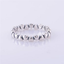 Wholesale Silver Jewelry For Sale China - RIP016 Factory Sales OEM 100% 925 Sterling Silver Charms Rings Vintage Heart Encircle Fashion Womens Mens Ring For Pandora DIY Jewelry