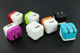 Wholesale Mini Folding Wall - Portable Folding Wall Charger 5V 1A EU Plug US Plug Mini USB Home Charger Travel Power Adapter For Iphone 4 5 6 Samsung s6 s5 Note 3 4