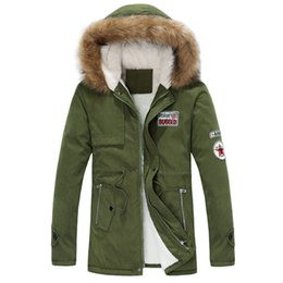 Wholesale Hooded Winter Trench Coat - Fall-2015 winter Mens thickening cotton jacket Men fashion hooded wadded long trench coat Men pure color casual outwear parka,S-4XL