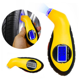 Wholesale Car Air Pressure Tool - Diagnostic Tools tire pressure gauge Meter Manometer Barometers Tester Digital LCD Tyre Air For Auto Car Motorcycle Wheel New