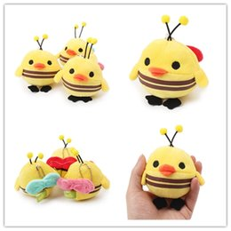 Wholesale Bee Plush Toy - Pet Plush Toy Dog Chew Toy Voice Hanging Toys Yellow Cartoon Bee Chicken Toy Diameter 7cm CYF79
