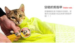 Wholesale Wholesale Grooming Bag - Free shipping 50pcs  a lot Multifunctional cat Grooming bag cat bags bath bags fitted mesh bag cat clean pet supplies
