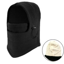 Wholesale Motorcycles Rain - Double Layer Warmer Fleece Full Neck Face Mask Windproof Hat Motorcycle Cycling Ski Hooded Beanies Caps
