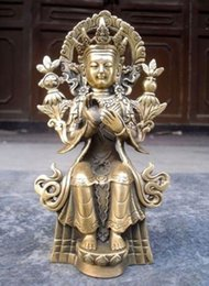 Statua tibetana online-Buddismo Tibetano da collezione Tibetan Maitreya Bronzo Statua di Buddha