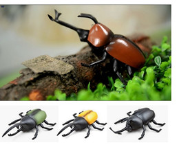 Wholesale Rc Beetle - Novetly Remote Control Beetles RC Mini Beetle Cockroach Insect Infrared remote control toy For Kids Birthday Xmas Gifts free shipping