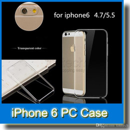 Wholesale Iphone 5c Shell For Sale - On Sale Slim Transparent Crystal Clear Hard PC Shell Skin Cover Case for iPhone 6 4.7 inch iPhone6 Plus 5 5S 5C 4 4S
