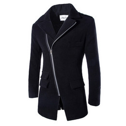 Wholesale Winter Coat For Men Wool - FG1509 Men's Long Coat 2015 Spring Fashion Brand Mens Wool Winter Coats Overcoat Men's Slim Fit Winter Jacket For Male ZHY1317