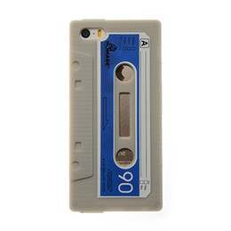 Wholesale Silicone Cassette Iphone Case - Phone Cases for iPhone 5 5S case Cover Soft Silicon Vintage Tape Cassette mobile phone bags & cases Brand New Arrive 2014