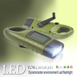 torcia elettrica di potenza Sconti SOS Hotsale Portable LED Manovella Dynamo Solar Power Torcia elettrica Torch Outdoor Camping Alpinismo Notte Linternas