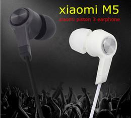 2019 m5 téléphones Xiaomi Piston 3 écouteurs M5 écouteurs dans l'oreille casque avec télécommande Mic pour téléphone Samsung Hongmi note boîte de vente au détail Livraison gratuite promotion m5 téléphones