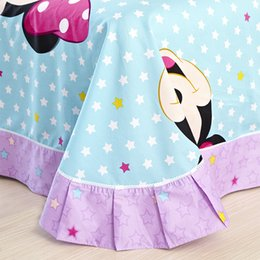 Wholesale Cheap Girls Comforters - Wholesale-Bule And Pink Minnie Mouse Comforter Set Luxurious Bedding Cheap Comforters For Girls