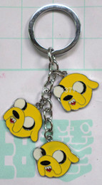 Wholesale Adventure Time Pvc - 10 PCS Adventure Time Jake Keychain designs,fashion key chain, cartoon keychain,key ring