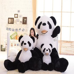 Wholesale Huge Brown Bear - giant plush panda bear skin 100cm 130cm 180 cm 260cm Biggest Lovely Soft Huge Giant panda factory price high quality