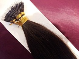 "Wholesale Stick Virgin Hair - 7A DHL Free shipping brazilian virgin human hair queen hair products 14""- 24"" 0.8g s 80g set stick tip nano ring hair #2 dark brown"