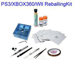 Wholesale Bga Solder Ball Kit - Free shipping BGA Reballing station + 11 pcs PS3 XBOX360 WII 80mm stencils + BGA Soldering tool kit
