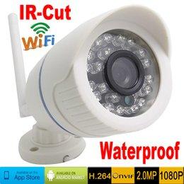 Wholesale Mini Bullet Cams - 1080P CCTV Ip Camera Wireless 2.0MP Full HD Outdoor waterproof Wifi Mini Cameras Network Cam IR Cut Infrared Bullet Onvif P2P