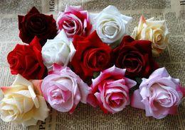 Cabeza de flor de terciopelo rosa Dia. 6.5 cm / 2.56