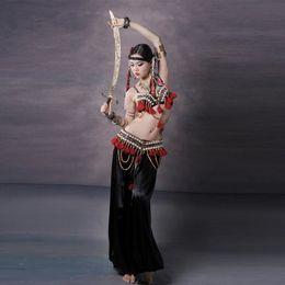 Wholesale Indian Tribal Costumes - 2016 Belly Dance Costume Set 3PCS Bra&Waist&Pants Women Embroidery Tribal Bellydance Professional Lady Dance Wear Indian Sari
