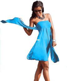 Wholesale Dress Beach Sarong Bikini - 1510 2015 Sexy Chest Women 's Fashion Sarong Summer Holiday dress, Bikini Swim Sexy Dress Women Beach Dress, 10 colors Swimwear