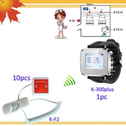 Wholesale Buzzer Call System - Nurse call system price K-300plus nurses watches w 10pcs K-F2 buzzer call button from cord ; Call;Cancel