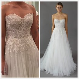 Wholesale Mira Zwillinger Wedding Dresses - 2016 Mira Zwillinger Wedding Dresses Sweetheart Floral Appliques Bridal Dresses Custom Made Wedding Gowns with Beads