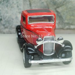 Wholesale Diecast 64 - Wholesale-Free Shipping Classic 1 64 Scale Diecast Car Model Toys Vintage 1932 Ford 3 Window Coupe Metal Pull Back Car Toy For Kids Gift
