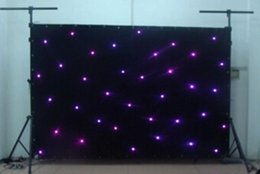 Wholesale Led Stage Backdrop Lighting - High Quality 5M*5M Led Star Curtain Blue+White LED Star Backdrops for DJ Stage Wedding Backdrops Led Star Lighting Size customized