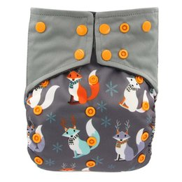 Wholesale Color Charcoal - Baby Charcoal Bamboo All-in-one AIO Cloth Diaper Sewn Insert Reusable Couche Lavable Pocket Diaper Flushable Bamboo